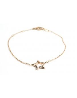 Pulsera Estrella Rosa Grande
