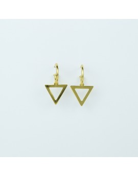 Pendientes Triángulo Amarillo Grande