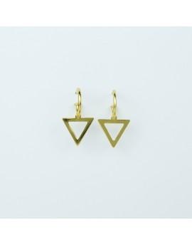 Pendientes Triángulo Amarillo Pequeño