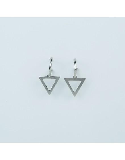Pendientes Triángulo Blanco Pequeño
