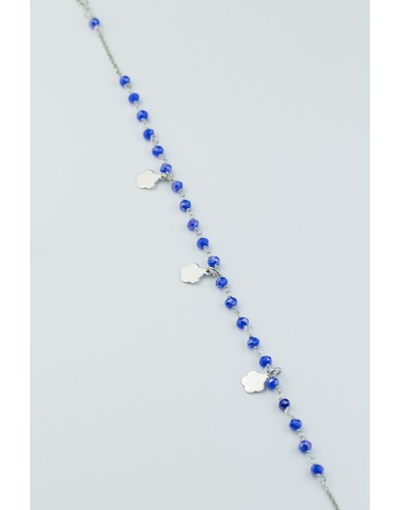 Tobillera Piedra Azul Plata