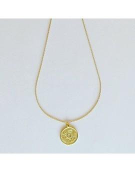 Cadena con moneda china amarilla