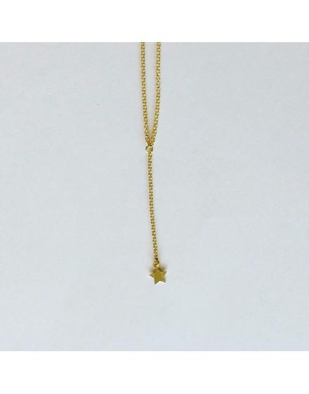 Gargantilla péndulo estrella amarilla